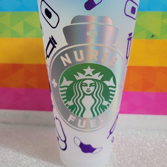"New 24oz Starbucks Reusable Venti Cold Cups, ""Nurs"